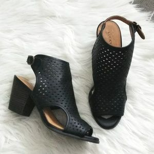 Lucky Brand perforated pumps.